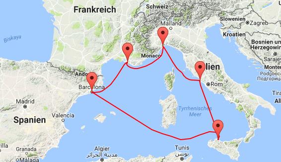 7 Tage Kreuzfahrt im Mittelmeer inkl. Vollpension ab 259€