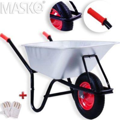 Masko Schubkarre mit 100 Liter, Luftbereifung bis 200kg für 29,80€
