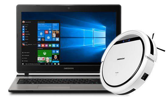 Medion Akoya E6429 (MD 60182) – 15,6″ Notebook mit 1TB, 8GB & Win 10 + Saugroboter MD 16192 für 449€ (statt 569€)