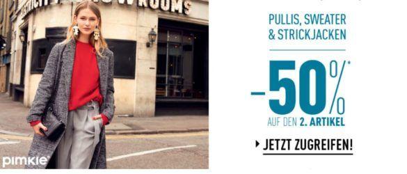 Pimkie mit 50% Rabatt auf den zweiten Pullover, Sweater oder Strickjacke + VSK frei ab 20€