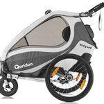 QERIDOO KidGoo2 Fahrradanhänger (2017er Modell) für 325,84€ (statt 362€) – 2-Sitzer für Kinder