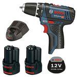 Bosch GSR 10,8-2 Li Akkuschrauber + 2x 1,5 Ah Akku mit Schnell-Ladegerät GAL 1230 CV für 89,99€ (statt 106€)