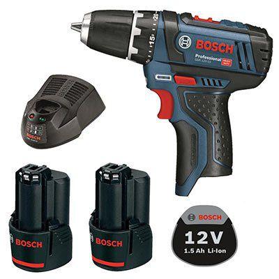 Bosch GSR 10,8 2 Li Akkuschrauber + 2x 1,5 Ah Akku mit Schnell Ladegerät GAL 1230 CV für 89,99€ (statt 106€)