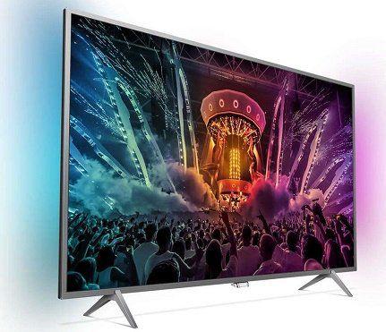 PHILIPS 55PUS6201/12   55 Zoll UHD Smart TV mit Ambilight für 599€ (statt 699€)