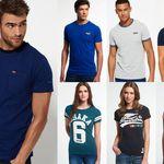 Superdry T-Shirts für Damen und Herren – neue Modelle von XXS bis XXL für 13,95€