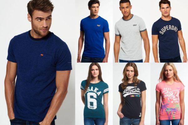 Superdry T Shirts für Damen und Herren   neue Modelle von XXS bis XXL für 13,95€