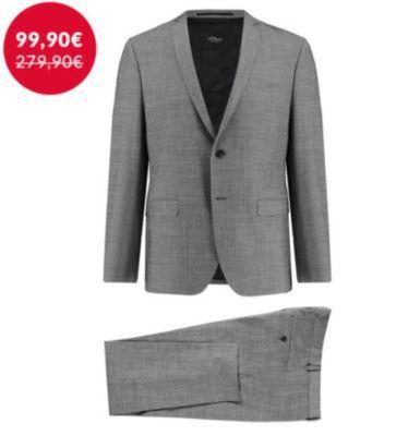 S.Oliver Cosimo Flex Black Label grauer Herren Anzug für 99,90€
