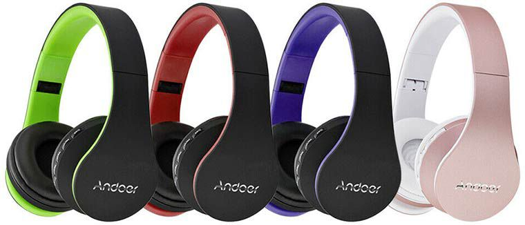 Andoer LH 811   4in1 Stereo Bluetooth Kopfhörer (Mikrofon,MP3 Player) in 8 Farben ab 7,95€   aus DE