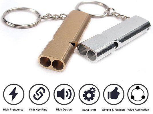 2er Pack Sicherheitspfeifen in Gold oder Silber für 2,12€