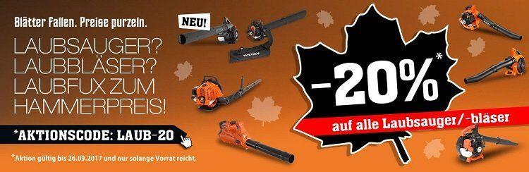 20% Rabatt auf Fuxtec Laubbläser + VSK frei ab 50€   z.B. 2 in 1 Laubbläser für 95,20€ (statt 126€)