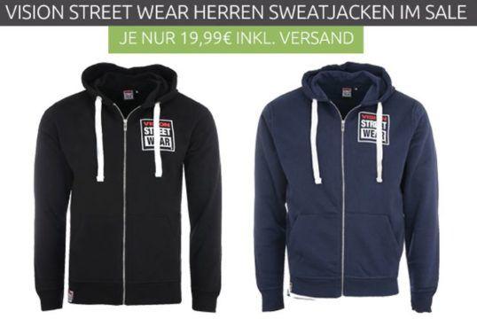 VISION STREET WEAR Herren Sweatjacke für je 19,99€