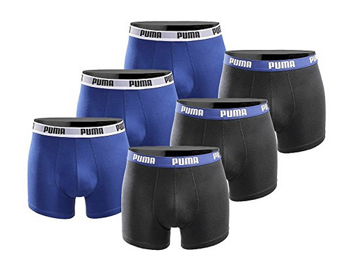 6er Pack Puma Basic Limited Black Edition Boxershorts für 29,39€ (statt 40€)
