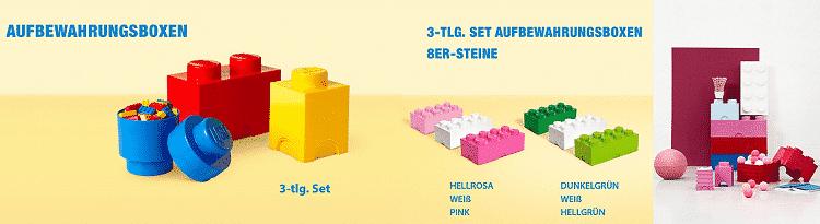 LEGO OneDay Sale bei vente privee   z.B. 3er Set Aufbewahrungsboxen (8er Steine) ab 56,90€ (satt 75€)
