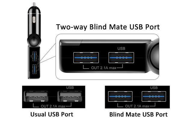 BC06S Bluetooth FM Transmitter mit LED Display, 2 USB Ports & Freisprecheinrichtung für 5,94€