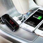 BC06S Bluetooth FM Transmitter mit LED Display, 2 USB-Ports & Freisprecheinrichtung für 5,94€