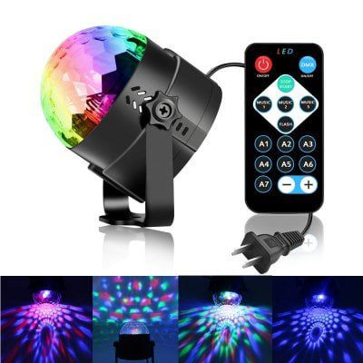 YouOKLight   Mini Discolicht 3W RGB 3LED inkl. Fernbedienung für 6,83€