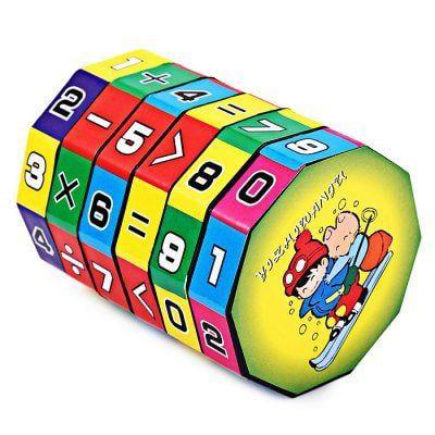 Würfel Puzzle mit Mathe Aufgaben für Kinder für 0,09€
