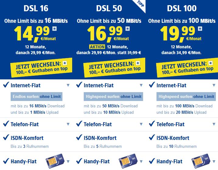 50€ Amazon Cashback bei 1&1 DSL + 100€ für Wechsler (DSL 50 für 23€/Monat)