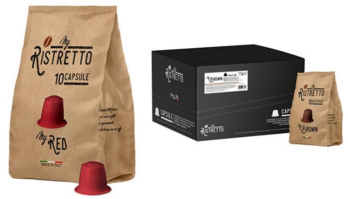 my Ristretto   Tee  und Kaffeekapseln oder Pads bei vente privee   z.B. 96 Mygrey Kapseln ab 19,99€ (statt 23€)