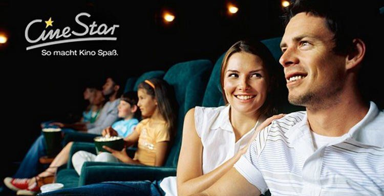 5 CineStar Kinogutscheine für alle 2D Filme inkl. Sitzplatzzuschlag für 27,50€