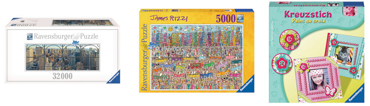 Ravensburger Sale bei Vente Privee   z.B. Puzzle New York City Window (32.256 Teile) ab 119,90€ (statt 190€)