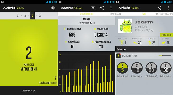 Runtastic Pull Ups Pro (iOS, Android) kostenlos