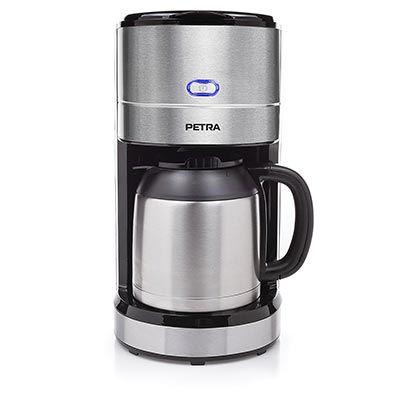 PETRA KM 54.57 Kaffeemaschine mit doppelwandiger Isolierkanne in Silber/Schwarz für 29€ (statt 60€)