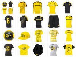 Puma BVB Fashion Fan Artikel: Trainingsshirt, Shirts, Tanktops und Bälle für je 19,99€
