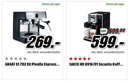 Media Markt Tag des Kaffees   reduzierte Kaffeemaschinen, Kapslen & Zubehör