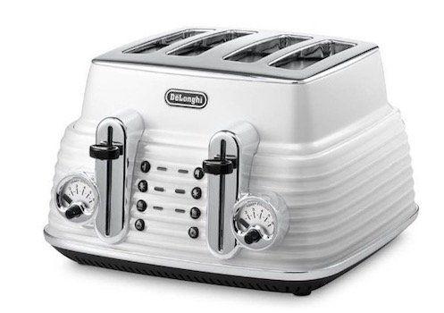 Ausverkauft! DeLonghi Toaster Scultura CTZ4003 mit elektronischer Regulierung und Lift Funktion für 40,61€ (statt 127€)