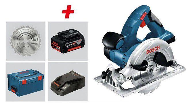 Bosch Akku Kreissäge GKS 18 V LI + 2 x 5 Ah Akkus, Ladegerät und L Boxx für 262,99€ (statt 315€)