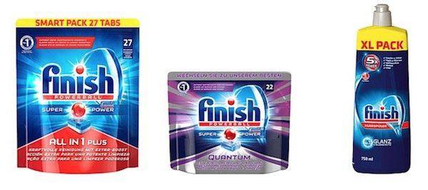 finish, Calgon und Vanish Sale   z.B. 6er Pack Finish Calgonit All in 1 Plus Smart Packs für 19,99€ (statt 30€)