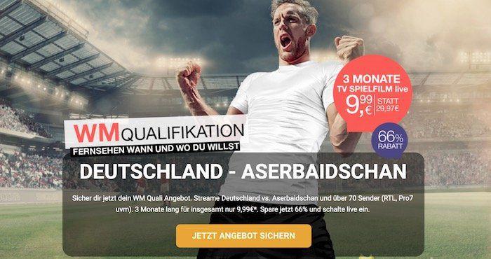 Tipp! 3 Monate TV Spielfilm live Streaming Dienst für nur 9,99€   perfekt für die WM Quali Spiele