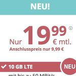 TOP! PremiumSIM Allnet- und SMS-Flat im o2 Netz mit 10GB LTE für nur 19,99€ – monatlich kündbar!