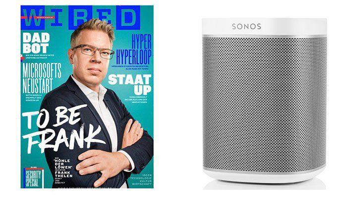 4 Ausgaben WIRED + Sonos Play:1 Lautsprecher für 195€
