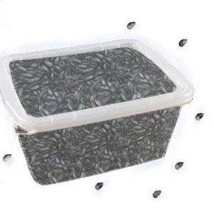 Naturfutter für 1 Jahr: 5kg Sonnenblumenkerne + 17 Liter Wanne + Microfasertuch für 11,90€