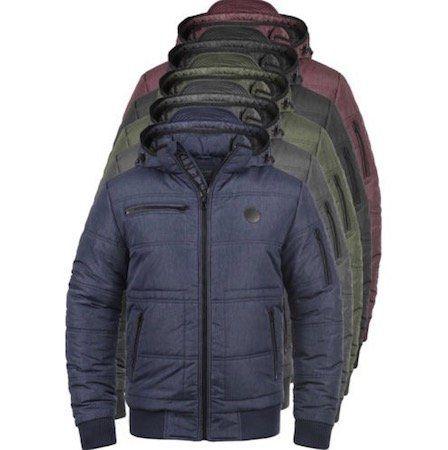 BLEND Boris Herren Winterjacke mit Stehkragen und abnehmbarer Kapuze für 47,95€ (statt 60€)