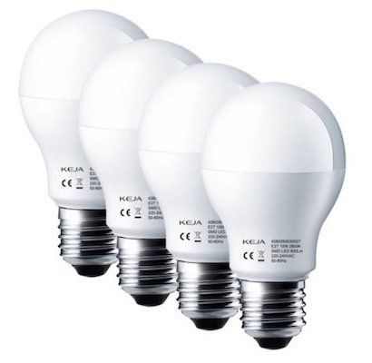 4er Pack KEJA LED Birnen mit E27 Gewinde 10W für 9,99€ (statt 20€)