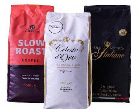 Exklusives Kaffeepaket mit 3kg Bohnen von Premiummarken für 31,99€