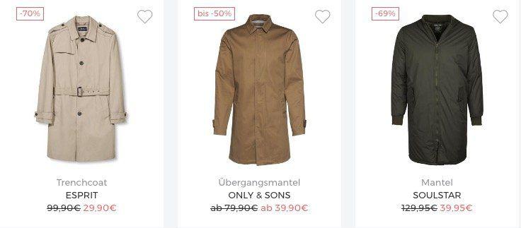 Großer Mantel Sale bei About You + keine VSK   z.B. Vero Moda Trenchcoat für 18€
