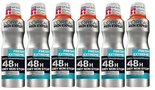 Vorbei: 6er Pack L'Oréal Men Expert Deodorant Fresh Extreme für 4,34€