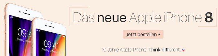 iPhone 8 Angebote ab 1€ mit Vodafone Verträge   z.B. Allnet Flat mit 5GB LTE für 41,99€ mtl.