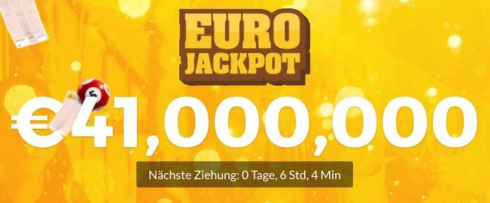 8 Felder EuroJackpot (41 Millionen Jackpot) für 4€ (statt 16€)