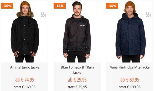Blue Tomato Jacken Sale mit bis zu 60% Rabatt   z.B. VANS Flintridge Herren Jacke nur 89,95€ (statt 110€)