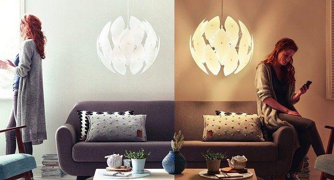 Philips Pendelleuchten bei vente privee   z.B. Chiffon Leuchte für 55,90€ (statt 89€)