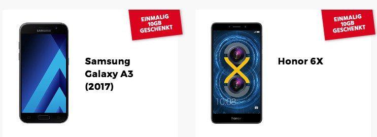 Vodafone Red Tarif oder Young Tarif: Partnerkarte für 15€ mtl. + gute Phones wie z.B. Honor 6X ab 4,95€