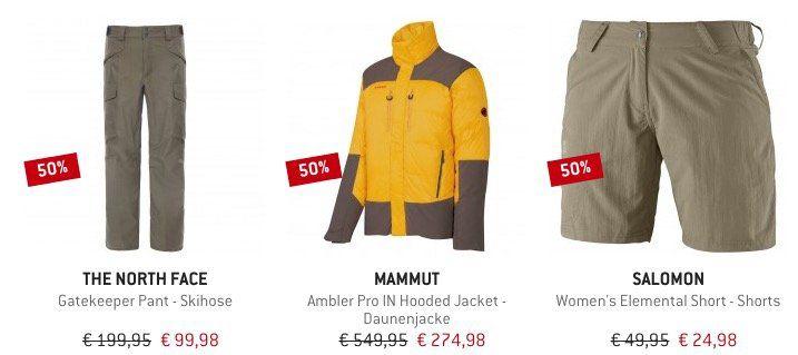 Mindestens 15% Rabatt auf Mammut, The North Face, Salewa und Salomon