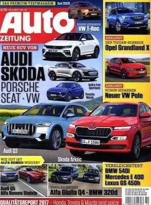 Neu! Auto Zeitung Jahresabo für 78,75€ inkl. 75€ BC oder 70€ Amazon Gutschein