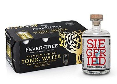 Siegfried Rheinland Dry Gin + 8er Pack Fever Tree Indian Tonic für 29€ (statt 37€)