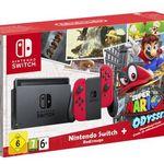 Nintendo Switch in Rot + Super Mario Odyssey für 318€ (statt 360€)
